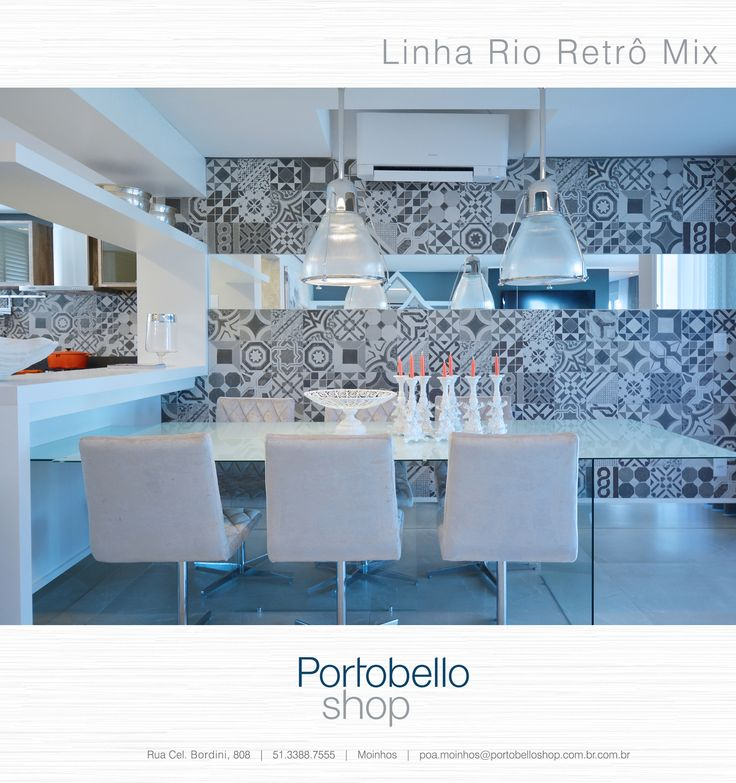 Revestimento Decorativo Portobello  Rio Retr Mix Parede