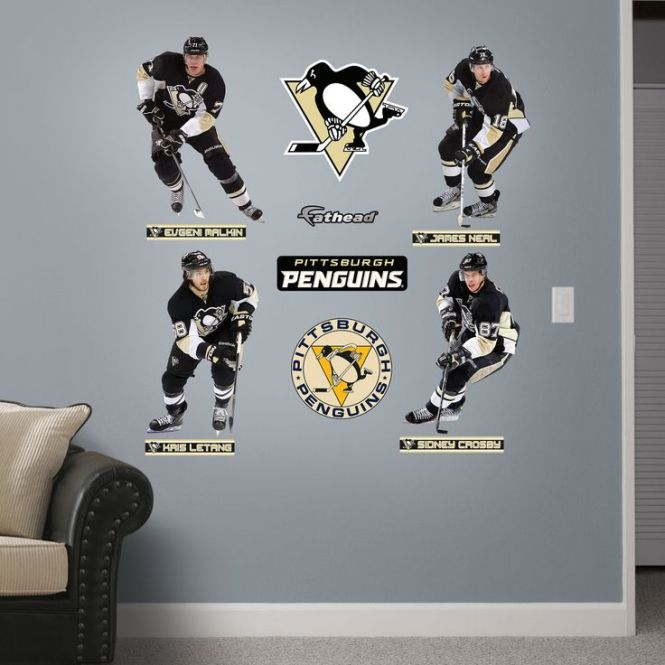 Pittsburgh Penguins Fathead Wall Decals Are Revolutionizing Posters And Stickers Score Vibrant Decor For Your