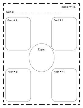 Expository Writing Graphic Organizer For 2nd Grade