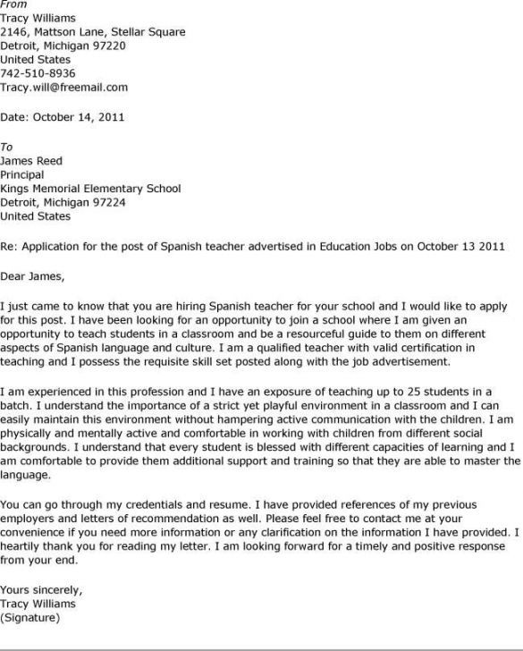 Cover Letter Format Example Resume Examples Pinterest