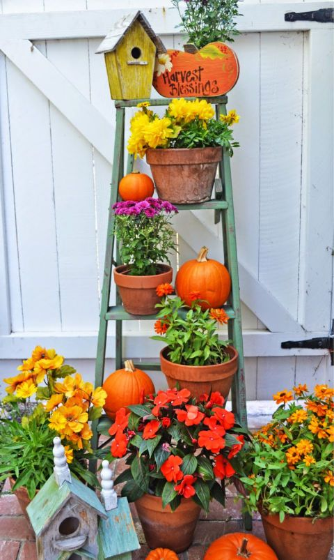 612 Best Images About Autumn Fall Porch Decor On Pinterest Fall