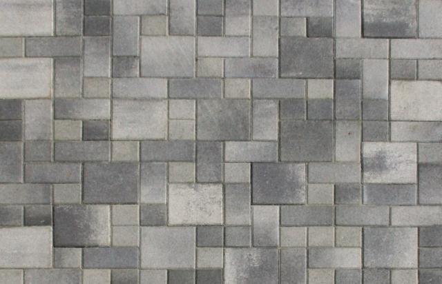 Large Photo of Interlocking Pavers GreyCharcoal Blend  Pool and terraces  Pinterest  Large