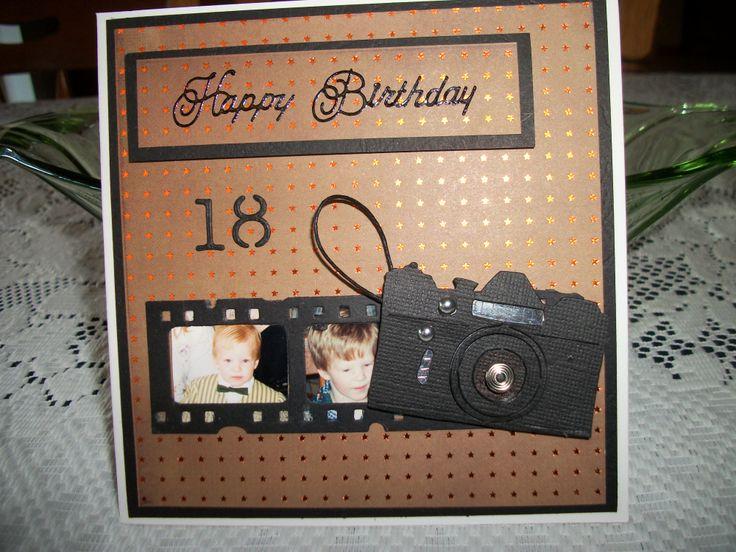 18th Birthday Card Film Strip & Camera My Handmade Male
