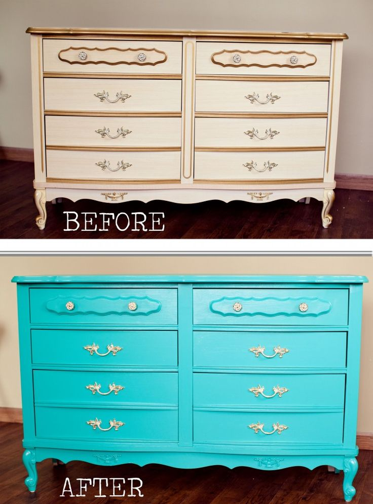 Before And After Painting Furniture DIY Pinterest