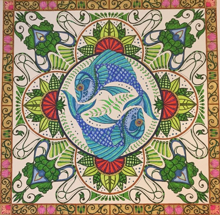 114 Best Images About Lost Ocean Page 24 Koi Mandala On