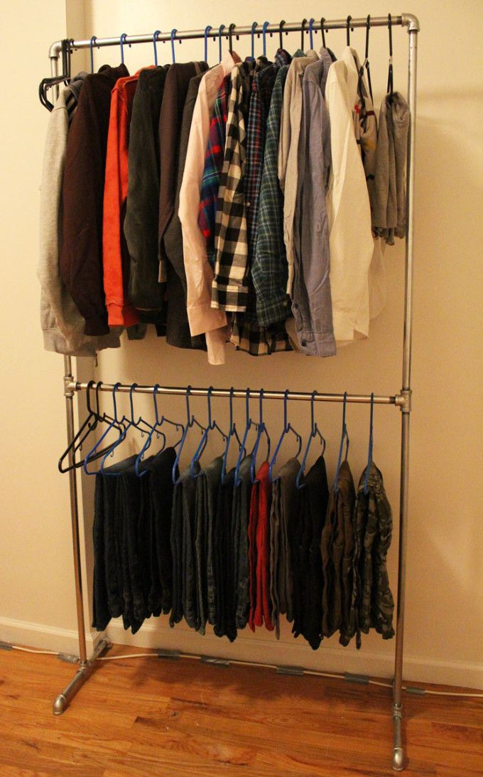 25 best ideas about Pipe clothes rack on Pinterest