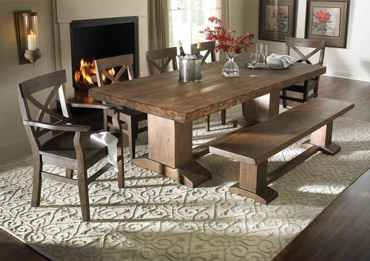 rustic wood kitchen table and chairs gray accent with arms cape town dining 94