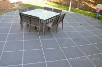 Backyard Makeover! How to paint concrete to look like ...