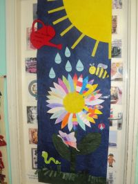 Spring door decoration in the language classroom ...