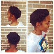 halo braid relaxed hair and protective