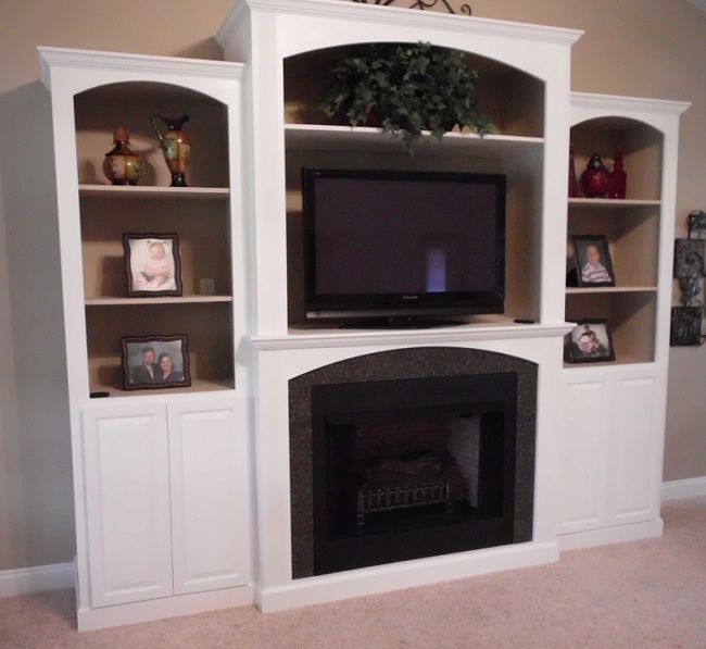 Custom Entertainment Center With Fireplace WoodWorking
