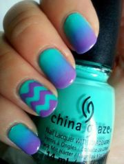 blue and purple nails nail design