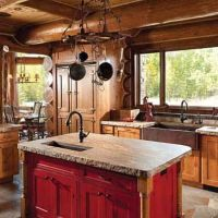 Cabin kitchens, Rustic cabin kitchens and Rustic cabins on ...