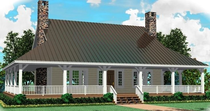 Great Raised Cottage With Wrap Around Porch And