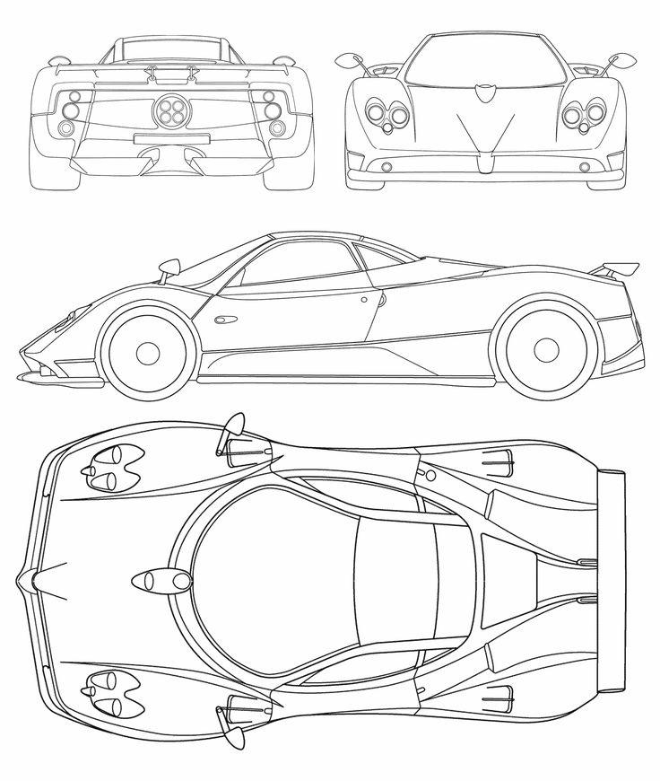 Chevrolet Corvette C6 Zr1 Blueprint