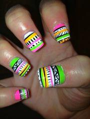 neon nail design summer 2015