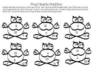 13 best images about Math frog activities on Pinterest