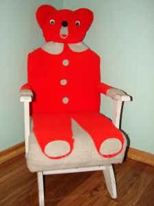 I want my bear chair back very old teddy bear rocking