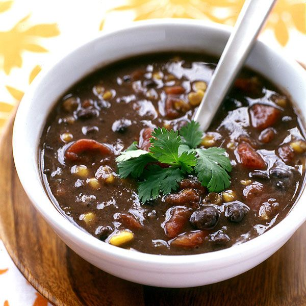 Spicy Black Bean Soup… Weight Watchers Recipe  I only used 1 can of beans and soaked and cooked the rest to cut down on the