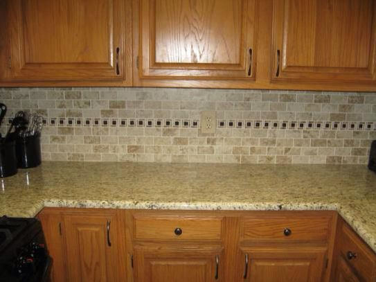 kitchen cabinets from home depot expandable table montagna cortina backsplash and giallo ...