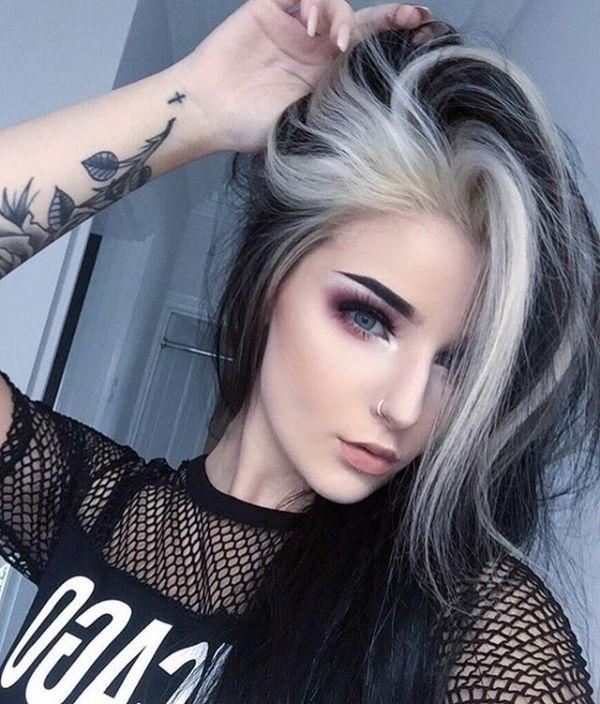 30 Grunge Goth Blonde Hairstyles Hairstyles Ideas Walk The Falls - Grunge-makeup-ideas
