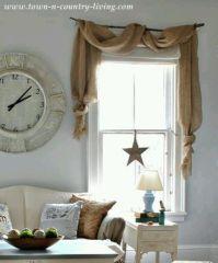 25+ Best Ideas about Burlap Window Treatments on Pinterest ...