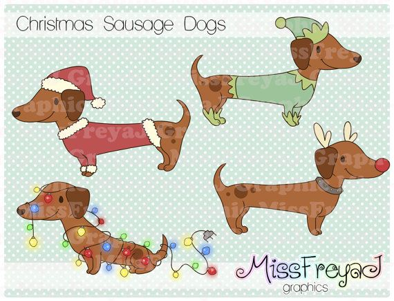 christmas sausage dogs dachshund
