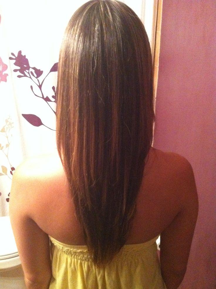 V Cut Haircut With Long Layers Haircuts Pinterest Na