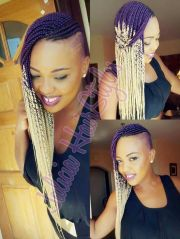 ombre box braids shaved sides