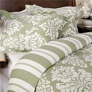 Havana Sage Green and Ivory Cotton Duvet Comforter Cover Set review  buy shop with friends