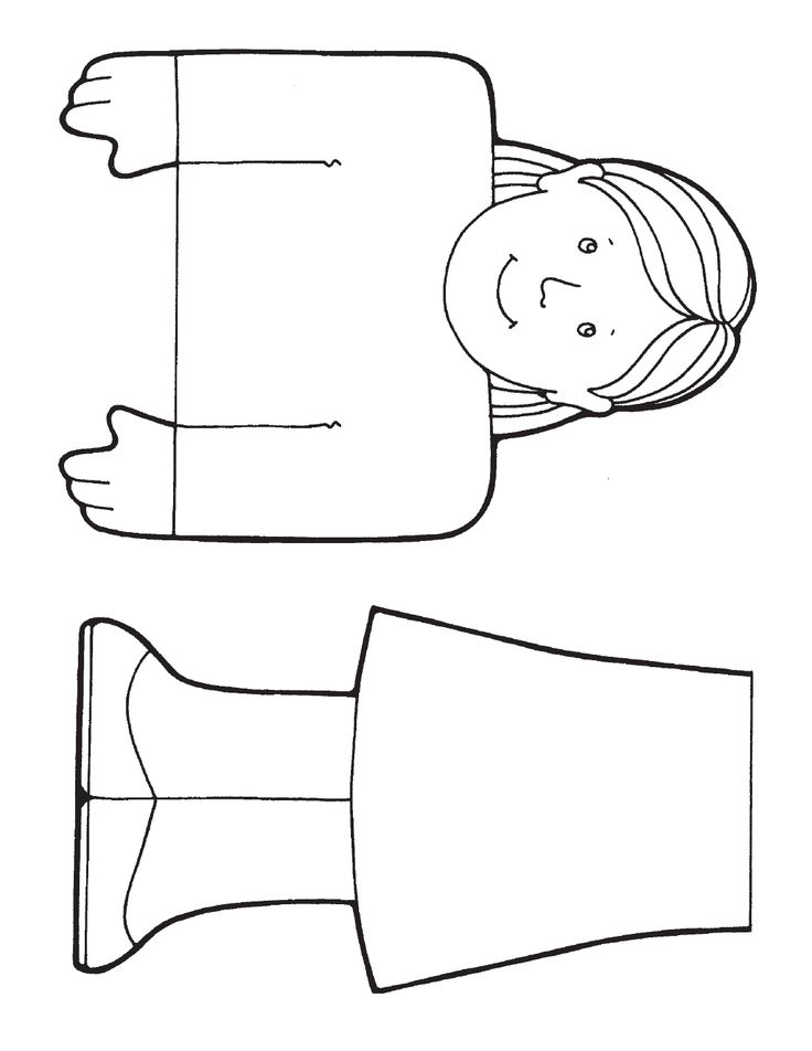 paper bag puppets coloring pages