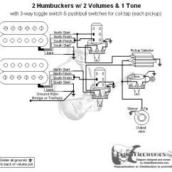 Rails Telecaster Pickup Wiring Diagram Marathon Boat Lift Motor Guitar 2 Humbuckers/3-way Lever Switch/2 Volumes/1 Tone/individual Coil Taps ...