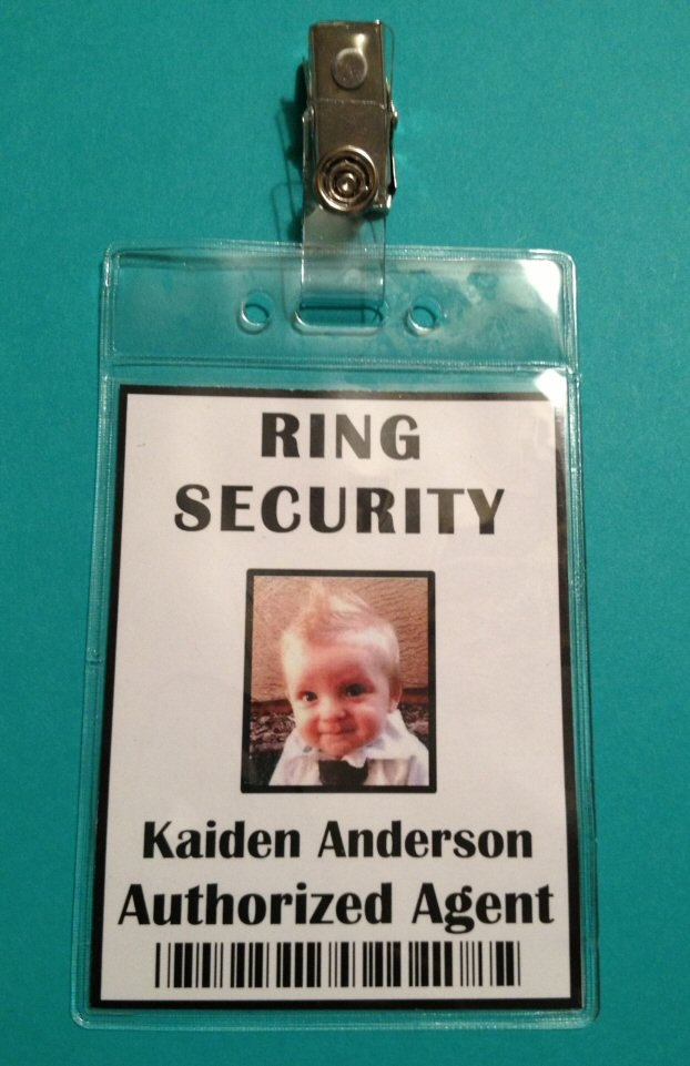 Ring Security Badge  Ring Bearer  Ring Security Agent 1200 via Etsy  On the cheap