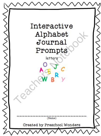 Interactive Alphabet Journal Prompts from Preschool