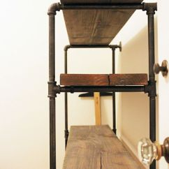 Library Chair Ladder Plans Plus Size Lawn Chairs Rustic Pipe Frame Shelving Diy. Smart Garage Storage Ideas? Let Us Be A Resource Garagesmart.com ...