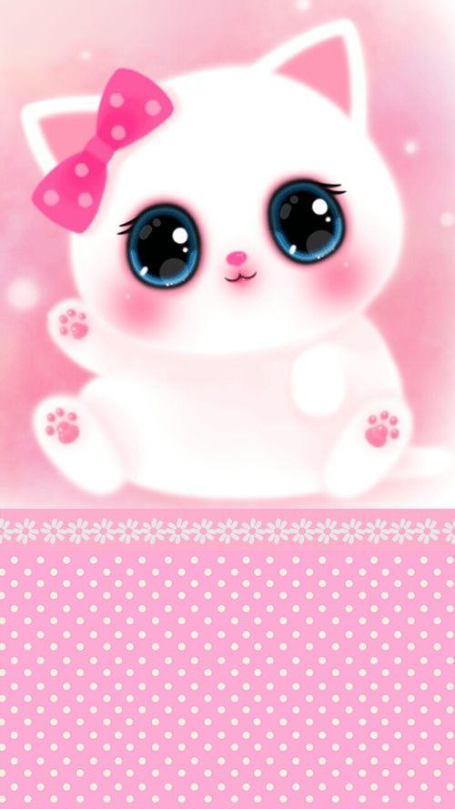 Wallpaper Paris Pink Cute Imagen De Cat Wallpapers And Cute Fondos Iphone