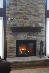 Covering A Brick Fireplace | How To Cover A Brick ...