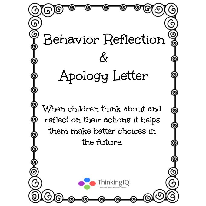 17 Best ideas about Behavior Reflection on Pinterest