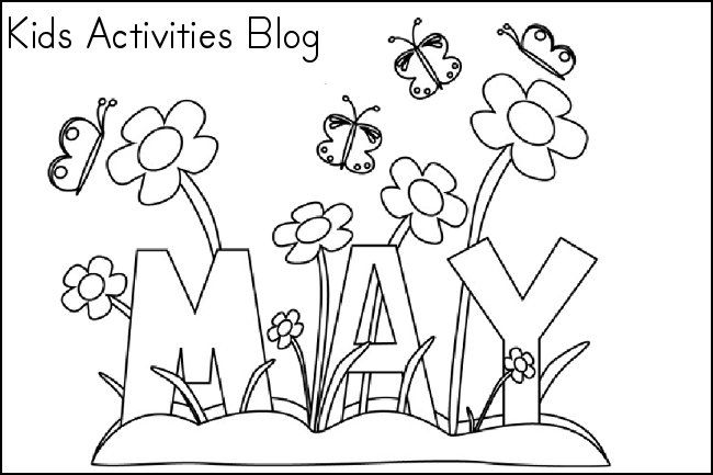 Coloring Pages for the month of May {Free Printable