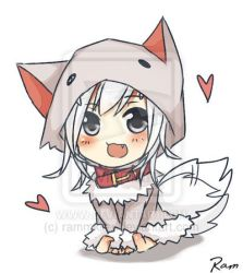 chibi anime minecraft wolf kawaii animal drawing hoodies deviantart manga