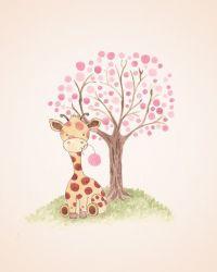 Giraffe Nursery Art - Baby Girl Nursery - Kids Wall Decor ...