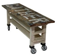 GATHER Reclaimed Wood Lettered Kitchen Island or Counter ...