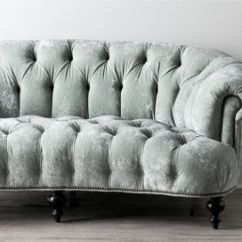 High Back Tufted Chair End Wooden Folding Chairs Seafoam Velvet Sofa | Sittin' Pretty Pinterest Beautiful, Sexy And Grey
