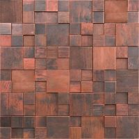 Metal Mosaic Tile Backsplash Antique Copper Tile 3D ...