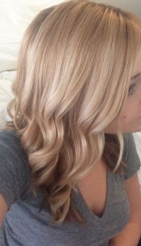 Wave medium length hair #blonde #gold [Color]-(Goldwell ...