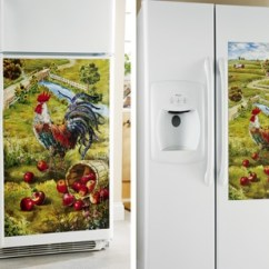 Rooster Rugs For Kitchen Range Hood Refrigerator Magnet Cover | ...