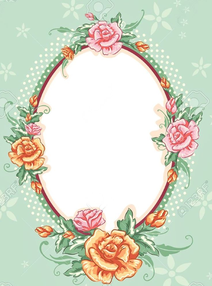 Pink Beautiful Frames Flower And Borders