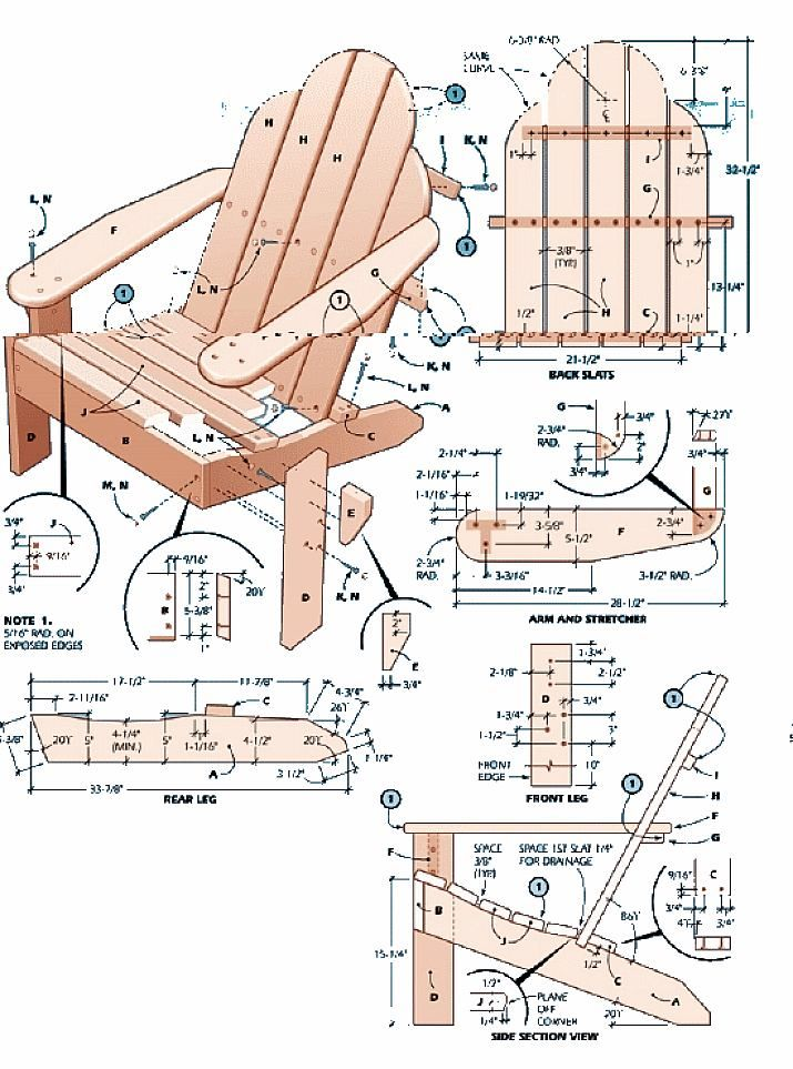 1000+ Images About Adirondack Chair Plans On Pinterest