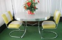 Vintage Retro 1950's Chrome Gray/Yellow Dining Kitchen ...