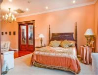 images of peach bedrooms with brown furniture
